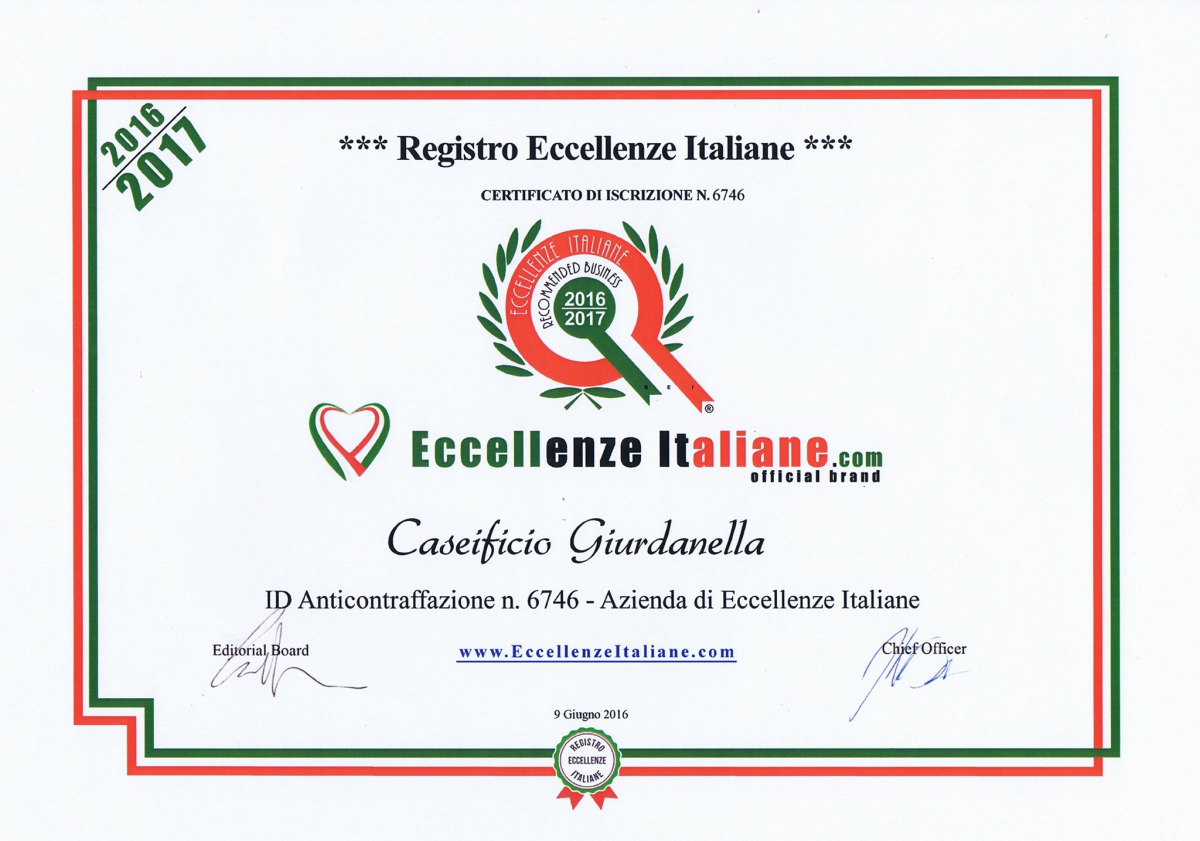 Eccellenze Italiane - Recommended Business 2016/2017